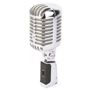 PDM PDS-M02 RETRO STYLE CHROME MICROPHONE