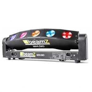 Beamz MHL-510 LED MOVING HEAD COLOUR SWEEPER 5X 10W QUAD LED