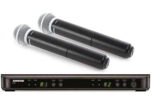 Shure BLX288E/SM58 Dual Wireless Handheld Vocal Microphone